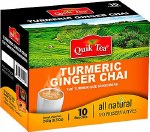 QUIK TEA TURMERIC GINGER TEA 10 CT