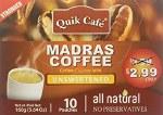 QUIK TEA UNSWEETENED MADRAS COFFEE 10 CT