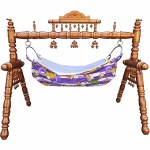 Sankheda Wooden Baby Swing