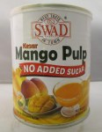 SWAD NO SUGAR ADDED KESAR MANGO PULP TIN 850 GM