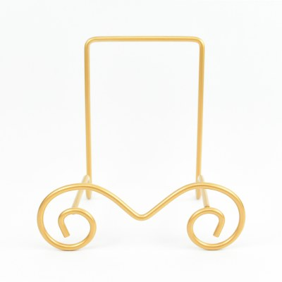 """7"""" Gold Metal Wire Bowl Stand"""