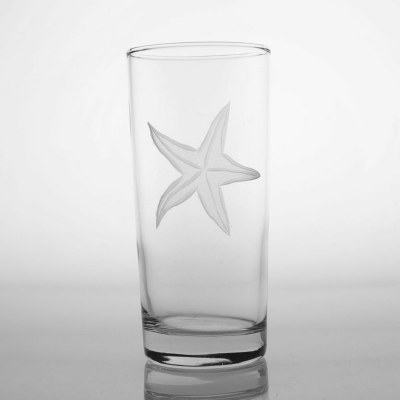 15 fl oz Etched Starfish Cooler Glass