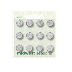 Set of 12 AG13 Button Cell Batteries