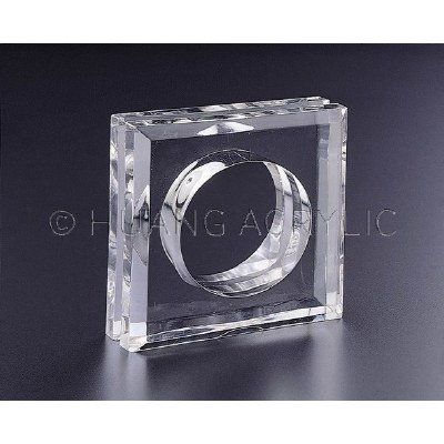 "2"" Square Clear Acrylic Minimal Napkin Ring"