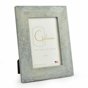 """4"""" x 6"""" Blue with Silver Accents Galassi Photo Frame"""