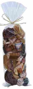 "13"" Bag of Brown Decorative Seashells"