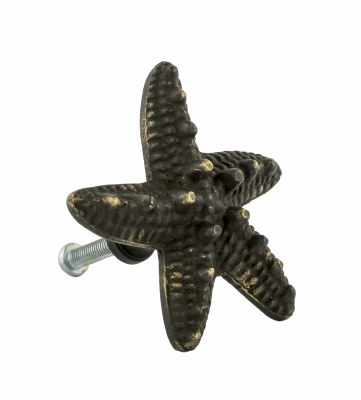 "2"" Small Distressed Dark Bronze Finish Starfish Pull"