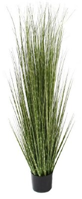 """48"""" Potted Faux Spotted Grass"""