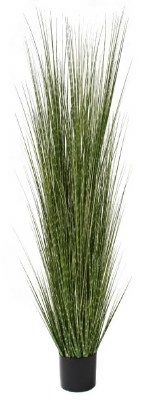 """72"""" Potted Faux Spotted Grass"""