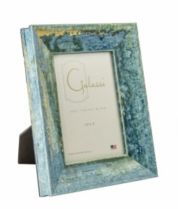 "3"" x 5"" Teal and Gold Bella Picture Frame"