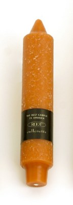 """7"""" Timberline Collenette Rust Taper Candle"""