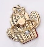 """1"""" Gold Cactus Cell Phone Ring Holder"""