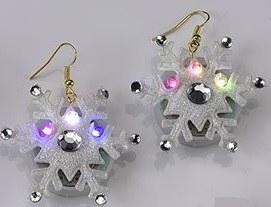 """3"""" LED Snowflake Earrings"""