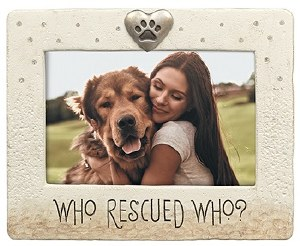 "4"" x 6"" Who Rescued Who Frame"
