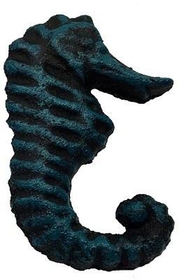 """3"""" Verdigris Metal Seahorse Drawer Pull"""