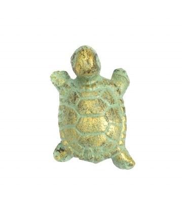 """2"""" Verdigris Metal Turtle Drawer Pull"""