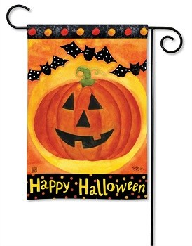 "18"" x 12"" Mini Jack O Lanterns Garden Flag"