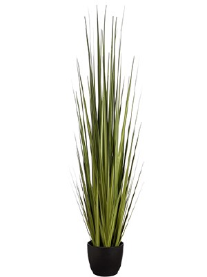 "60"" Faux Potted Green Reed Grass"