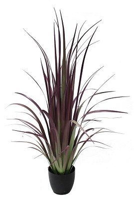 4' Potted Faux Purple Gladiolus Grass