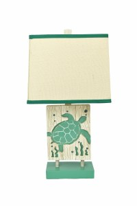 "24"" Green Turtle Lamp"