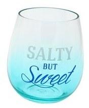 18 oz Salty but Sweet Stemless Plastic Wine Glass