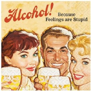 "5"" Square Alcohol Paper Beverage Napkins"