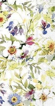 """9"""" x 5"""" Floral Paper Guest Towels"""