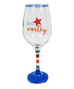 """9"""" Sea Worthy Wine Glass"""