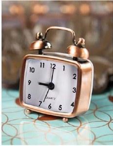"2.75"" Copper Mini Alarm Clock"