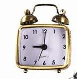 """2.75"""" Gold Mini Alarm Clock"""