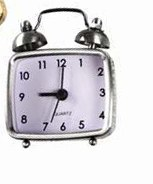 "2.75"" Silver Mini Alarm Clock"