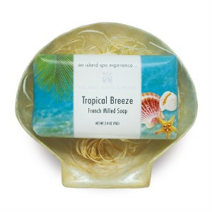 2.4 Oz Tropical Breeze Soap Shell Dish
