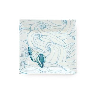 "4"" Small Ocean Ceramic Plate"