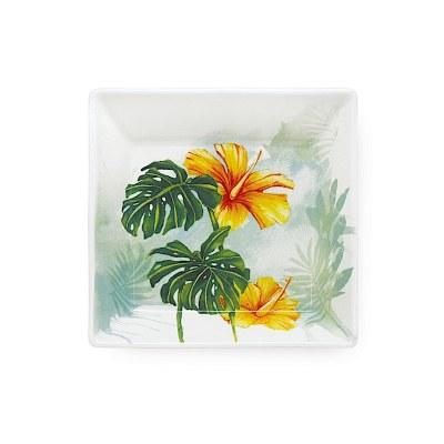 "4"" Small Tropical Garden Ceramic Plate"