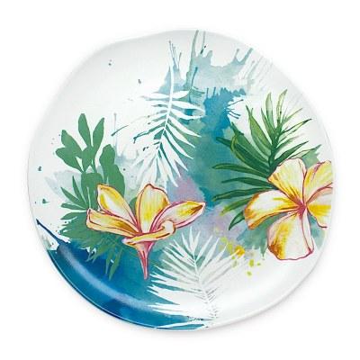 "8"" Tropical Garden Ceramic Salad Plate"