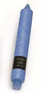 """9"""" Marine Blue Timberline Collente Candle"""