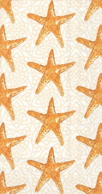 "9"" x 5"" Gold Starfish Guest Towels"