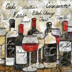 "5"" Square Wine Soiree Beverage Napkins"