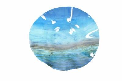 """17"""" Round Oceanside Ruffled Bowl"""