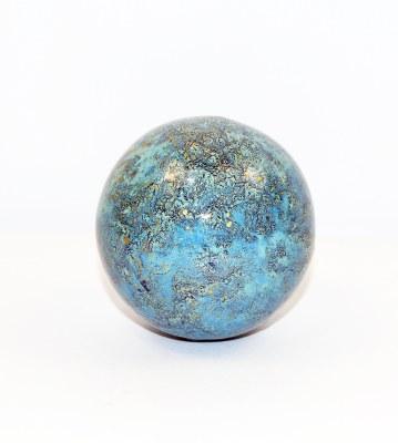 "3"" Azul Chispas Orb Glass"