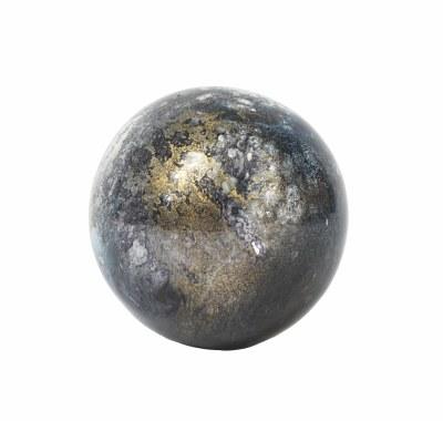 "3"" Blue Gray Orb Glass"
