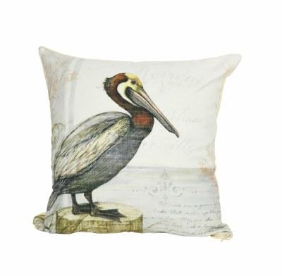 """18"""" Square Pelican Perch Pillow"""