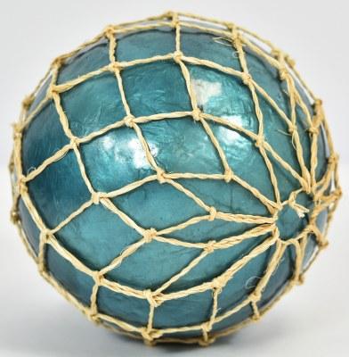 "3.5"" Dark Blue Capiz Orb in Net"