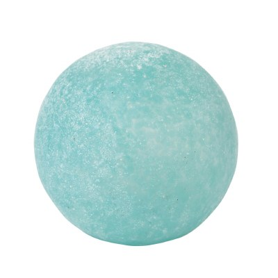 "4"" Frosted Teal Glass Orb"
