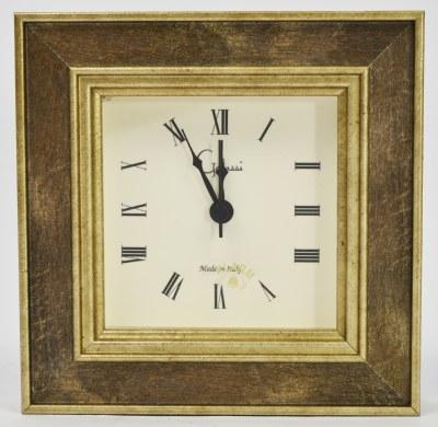 """4"""" Square Iridescent Cambridge Clock"""