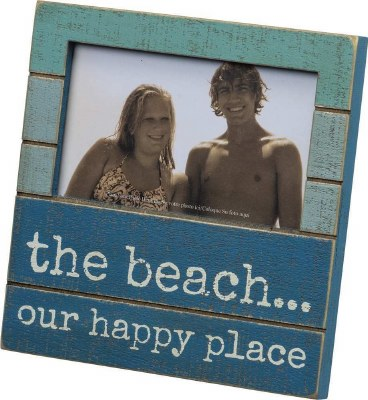 "5"" x 3"" Beach Happy Place Picture Frame"