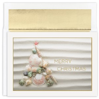 "Box of 18 8"" x 6"" Shell Tree Cards"
