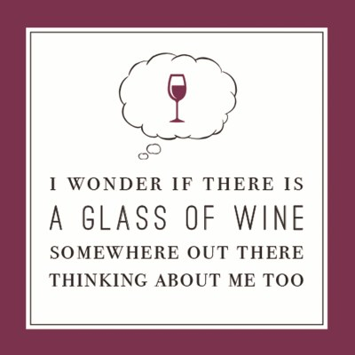 "5"" Square Wine Thinking Of Me Too Beverage Napkin"