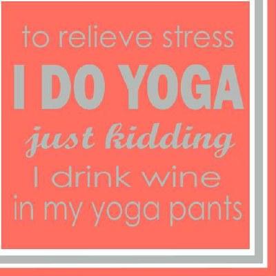 """5"""" Square Yoga Pants Beverage Napkin"""