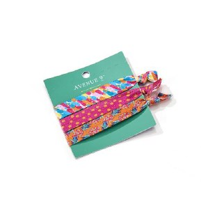 Set of 3 Assorted Hair Ties On Green Card